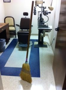 broom standing alone
